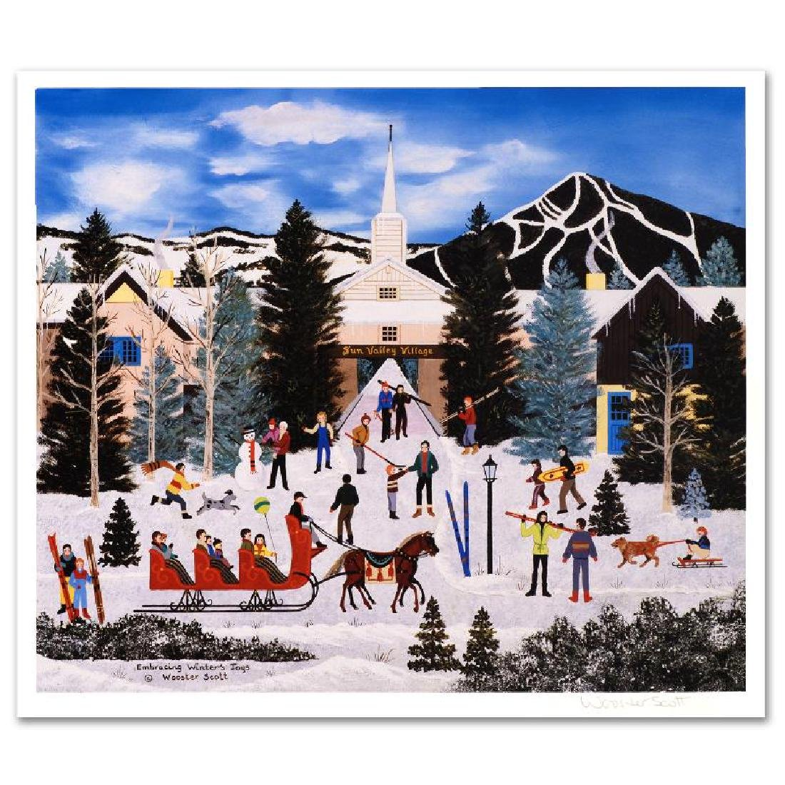 """Embracing Winter's Joys"" Limited Edition Lithograph by"