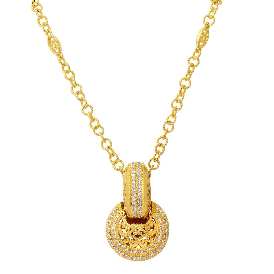 Philippe Charriol 18KT Yellow Gold Diamond Pendant &