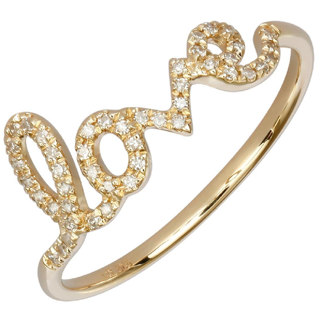 14KT Yellow Gold Women's Diamond Ring