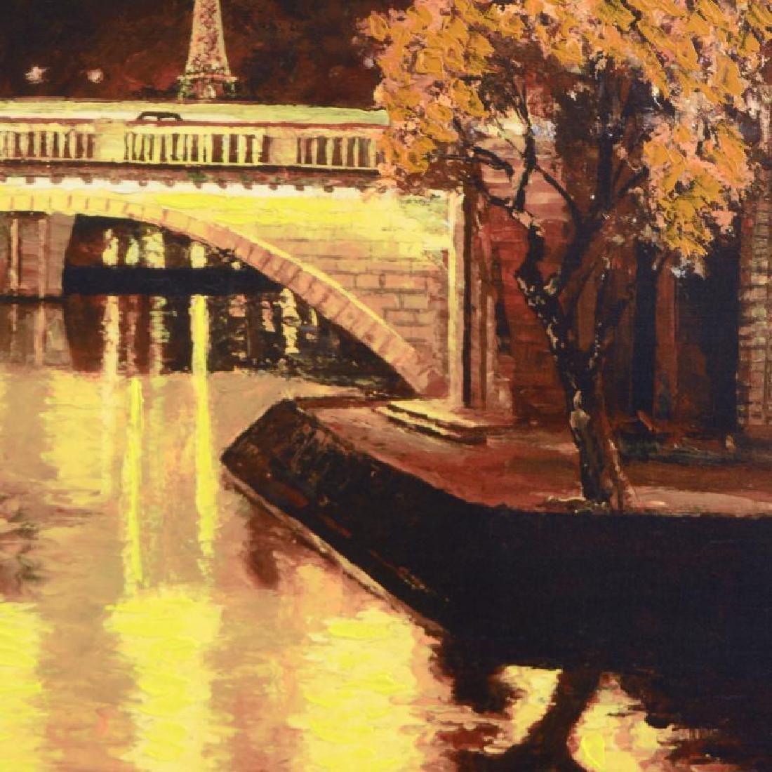 """Howard Behrens (1933-2014) - """"Twilight on the Seine - 2"""