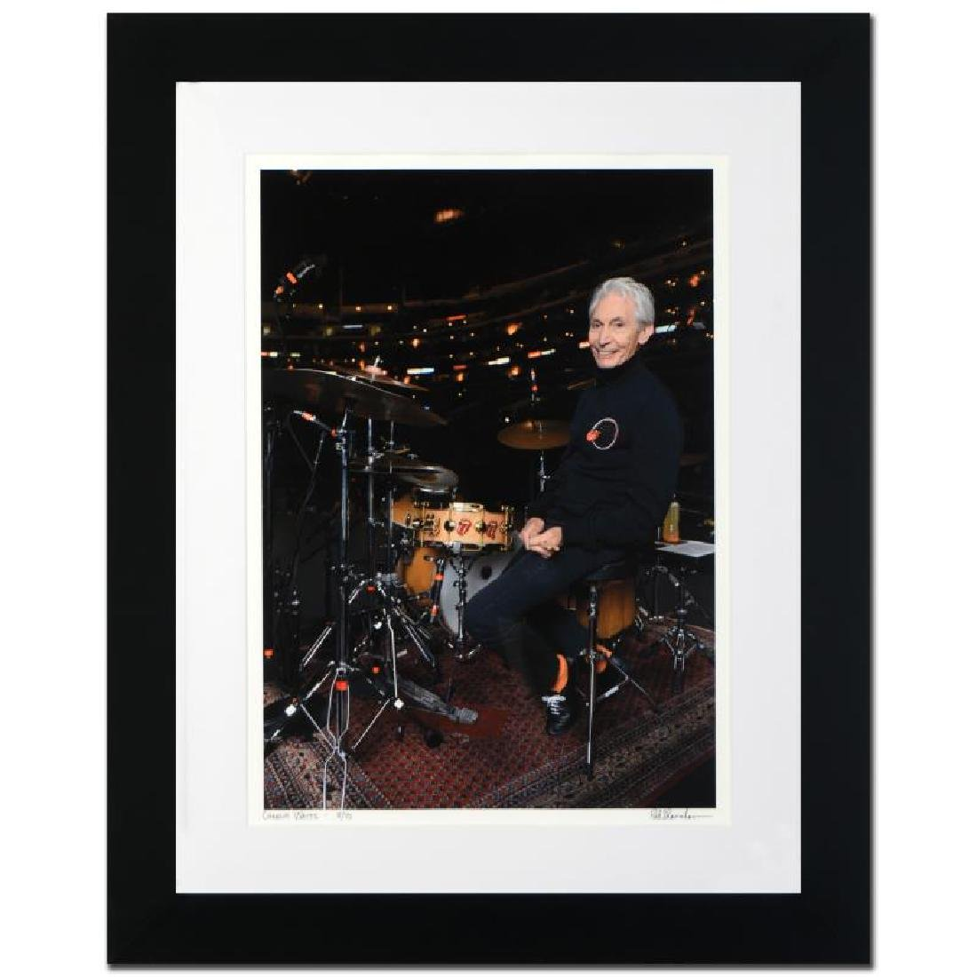 """""""Charlie Watts"""" Limited Edition Giclee by Rob Shanahan - 3"""