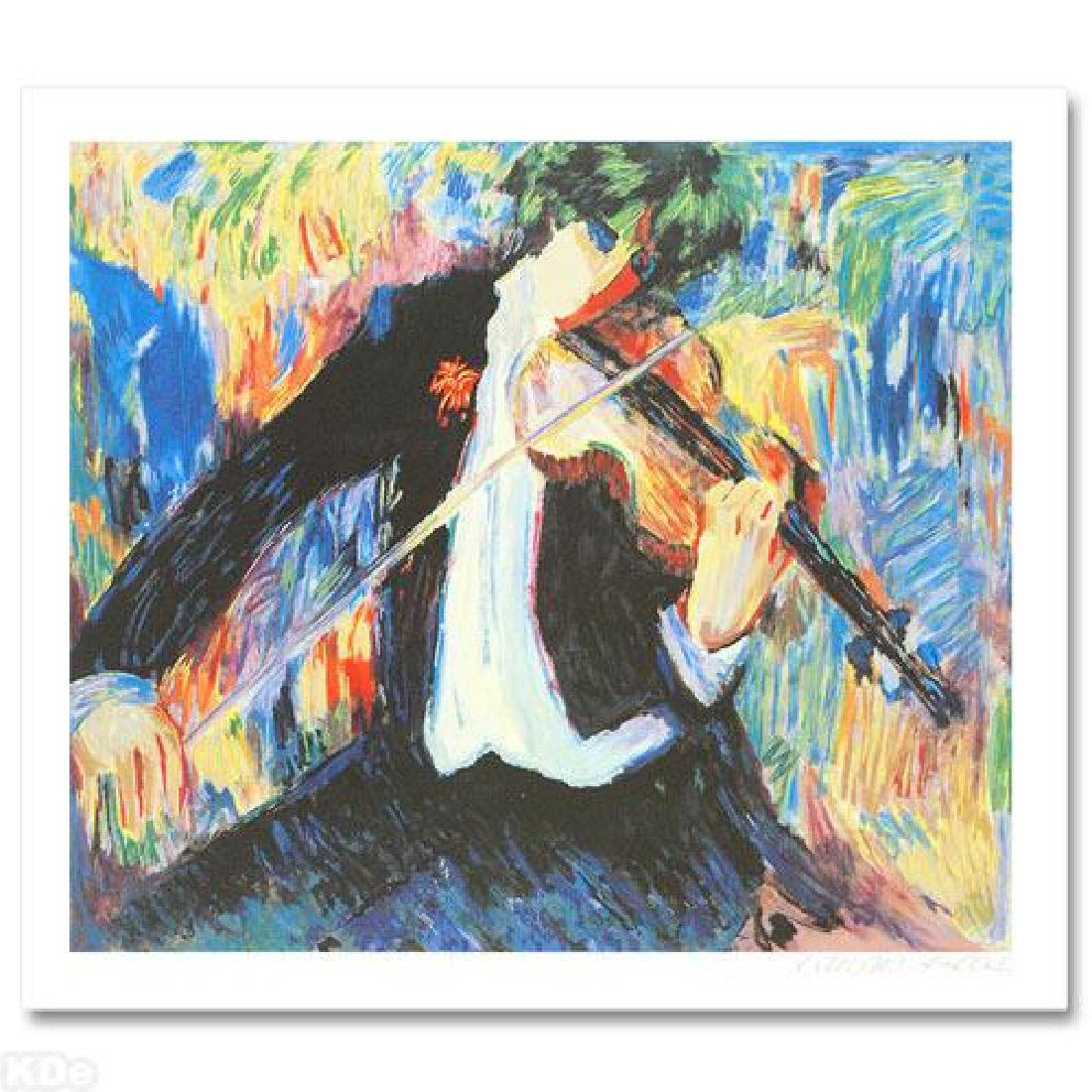 """The Violinist"" LIMITED EDITION Seriolithograph by - 3"