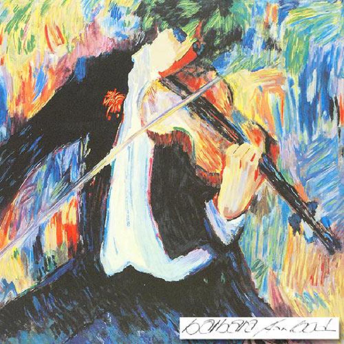 """The Violinist"" LIMITED EDITION Seriolithograph by - 4"
