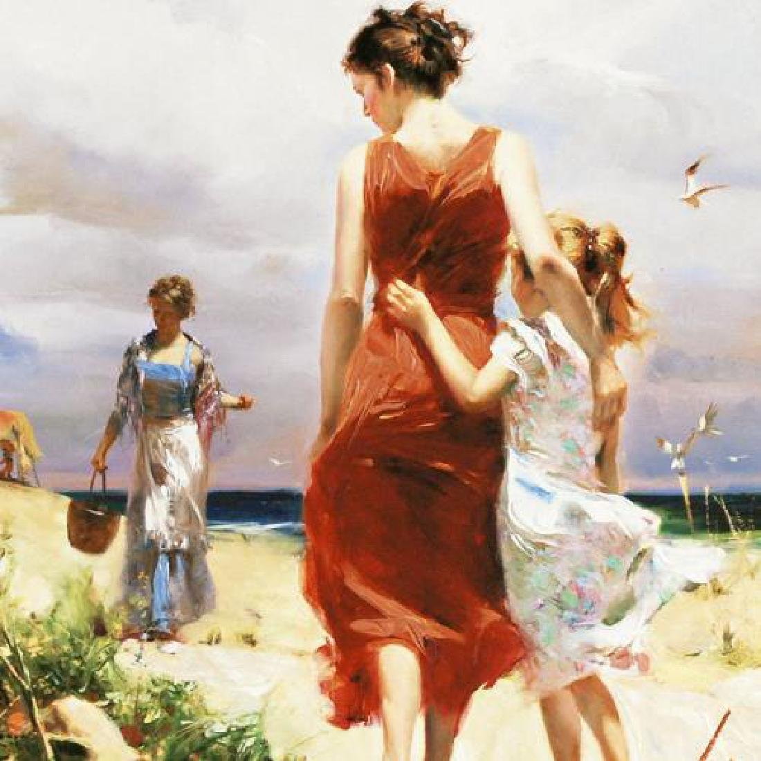 """""""Breezy Days"""" LIMITED EDITION Artist-Embellished Giclee - 4"""