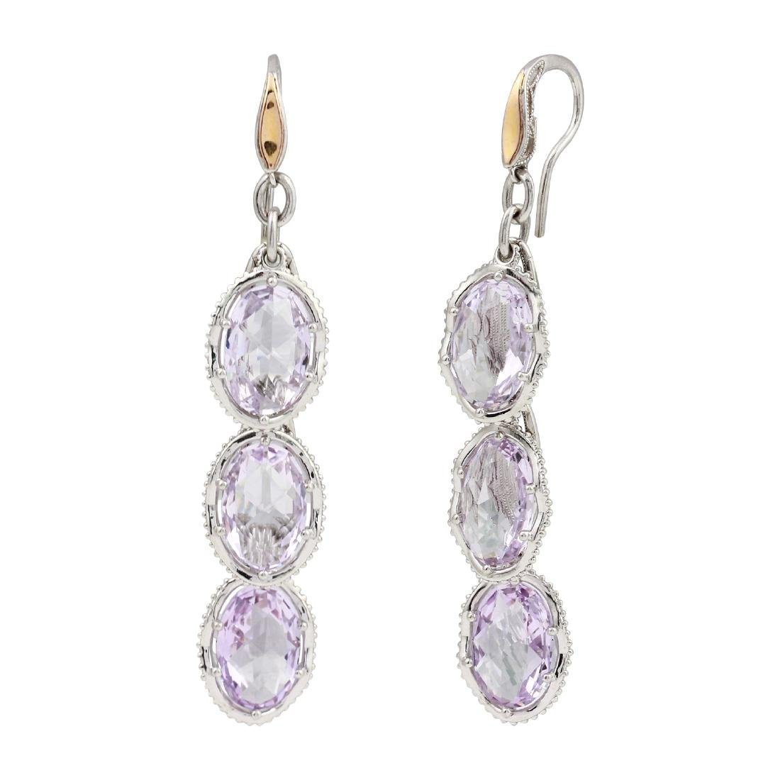 Tacori Sterling Silver and 18KT Yellow Gold Amethyst
