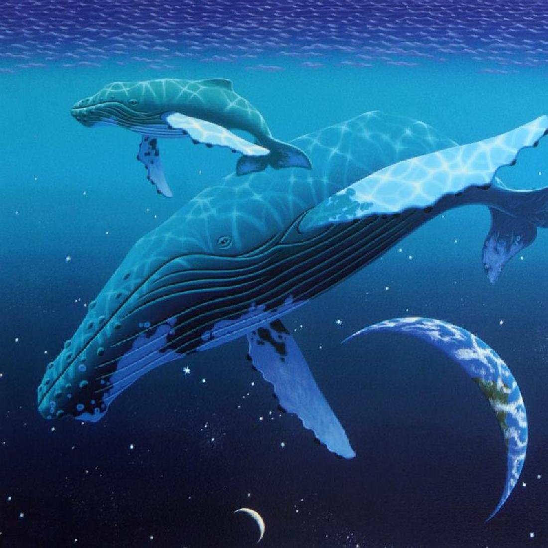 """The Humpback's World"" Limited Edition Serigraph by - 4"