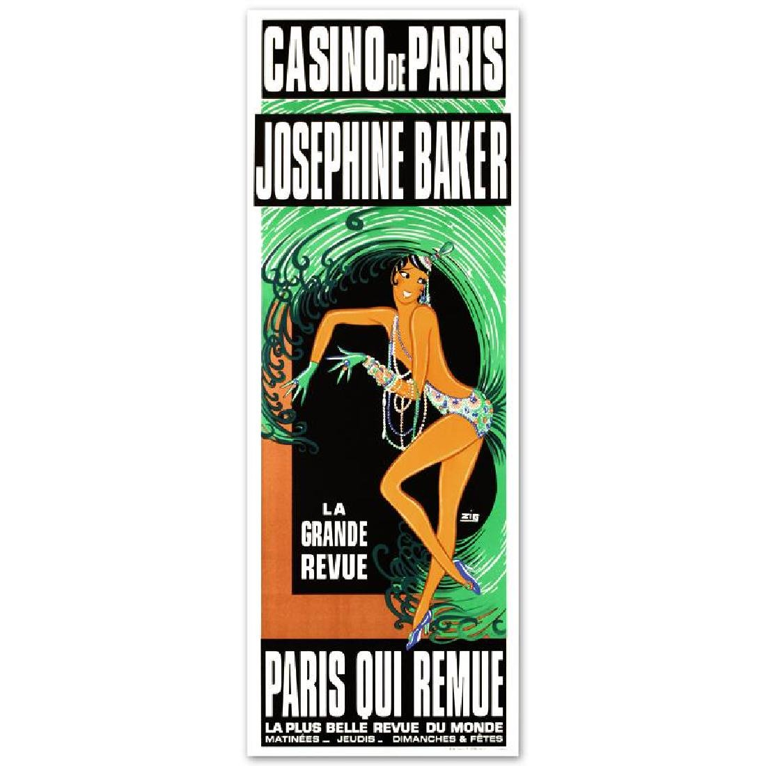"""Casino de Paris Josephine Baker"" Hand Pulled"