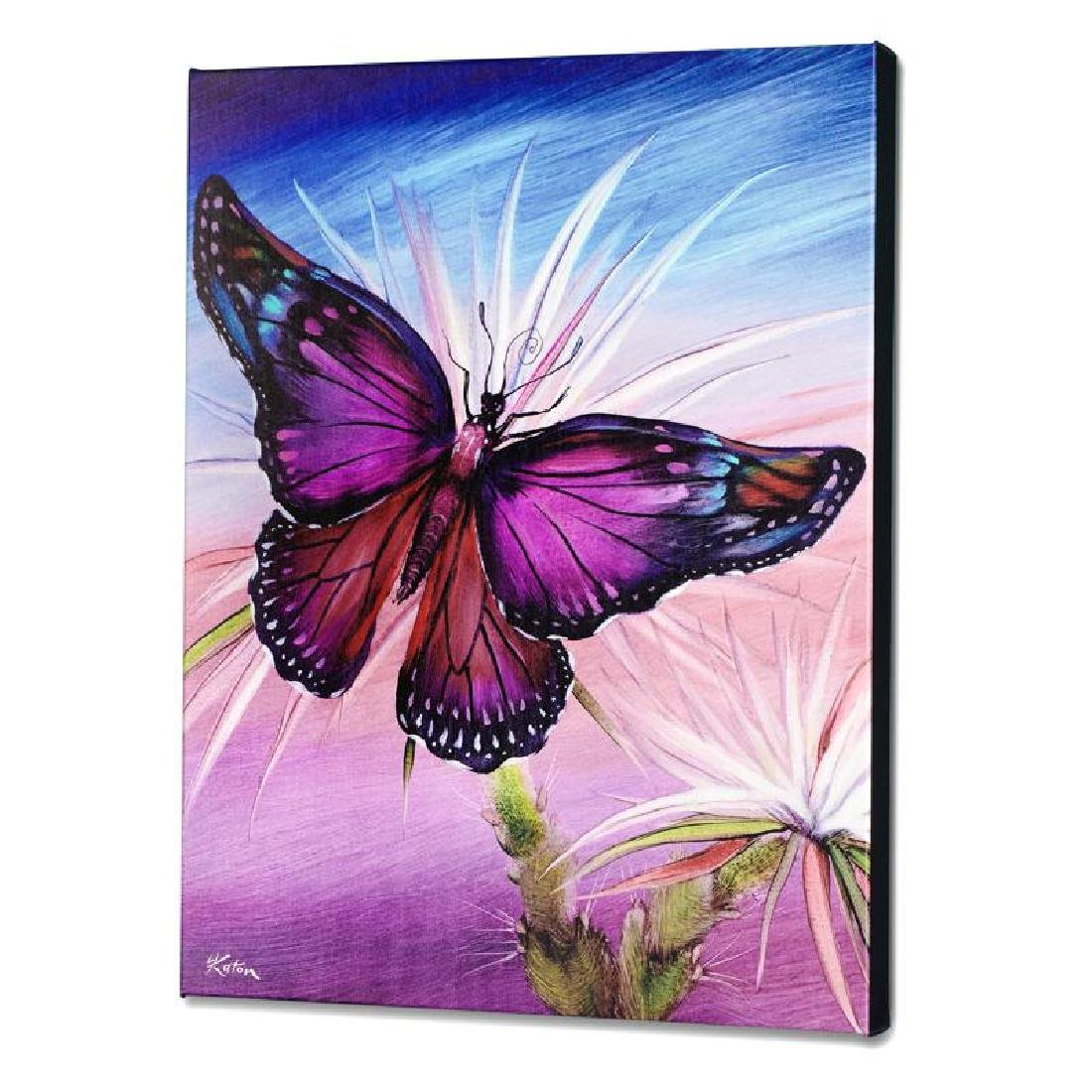 """Rainbow Butterfly"" Limited Edition Giclee on Canvas by"