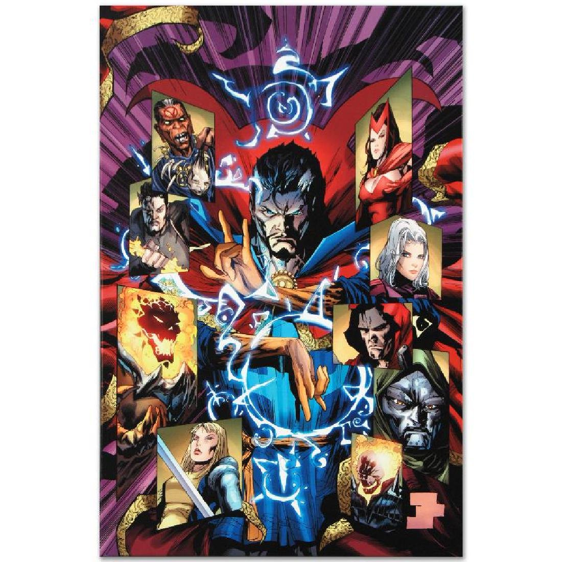 """New Avengers #51"" LIMITED EDITION Giclee on Canvas by - 2"
