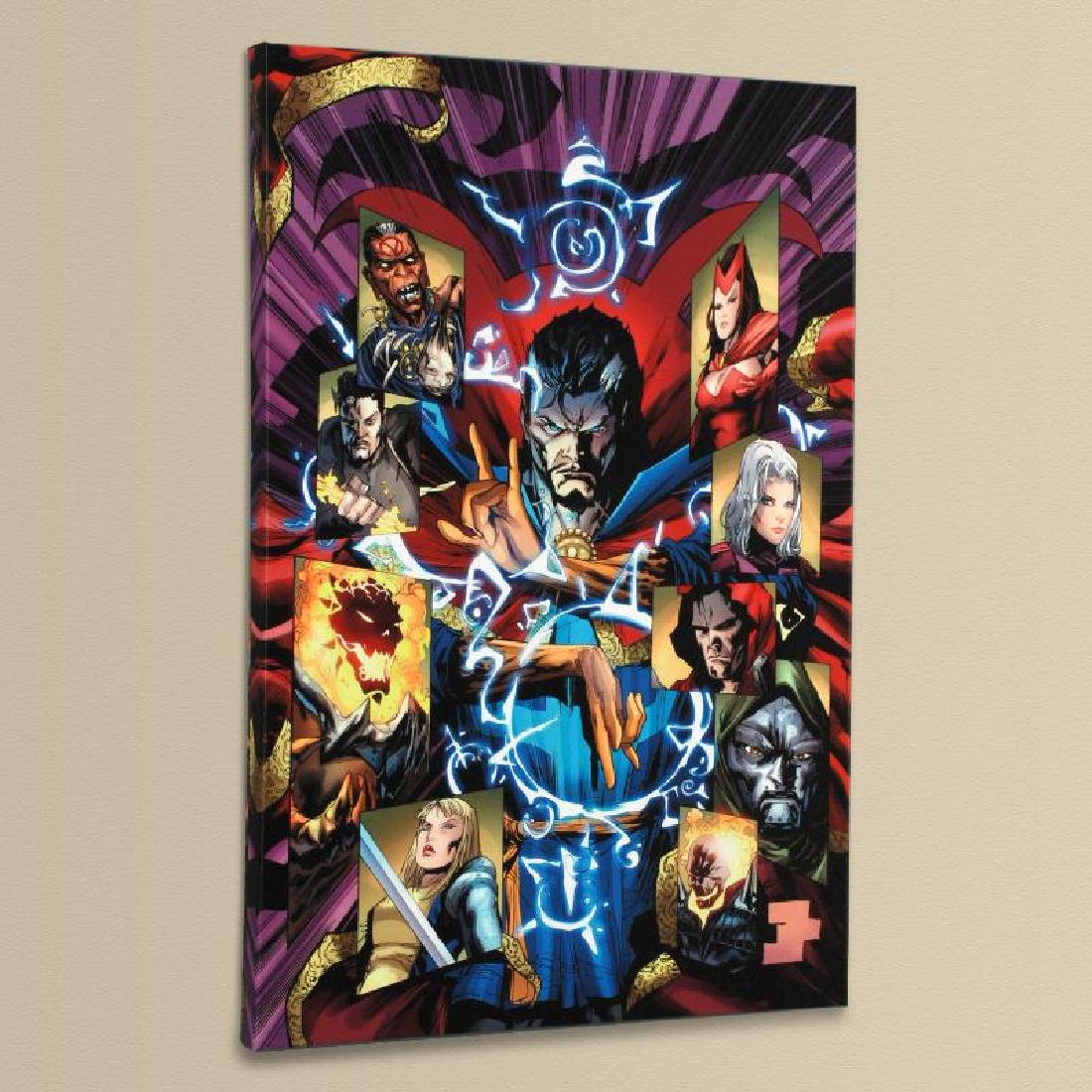 """New Avengers #51"" LIMITED EDITION Giclee on Canvas by - 4"
