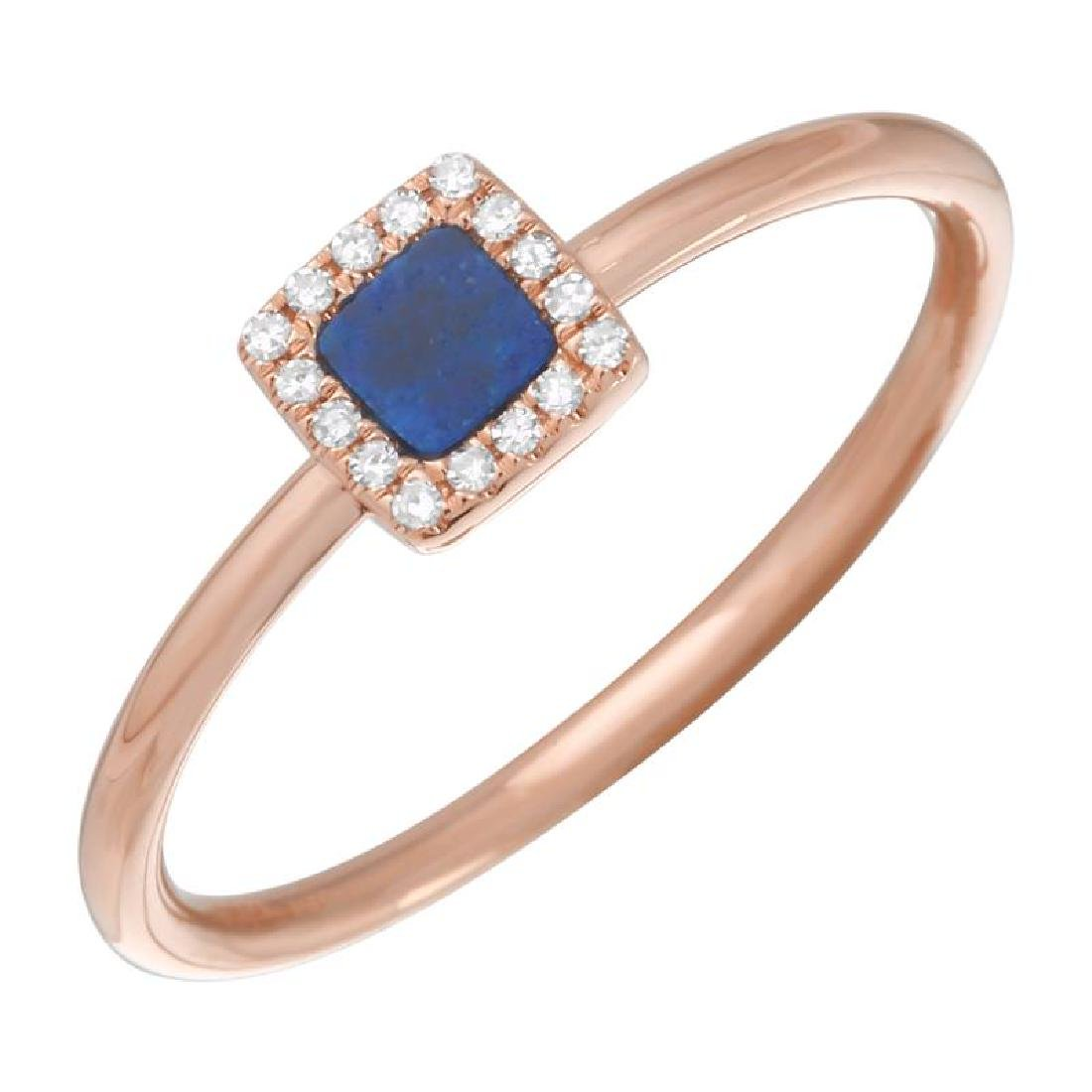 14KT Rose Gold Gemstone Ring