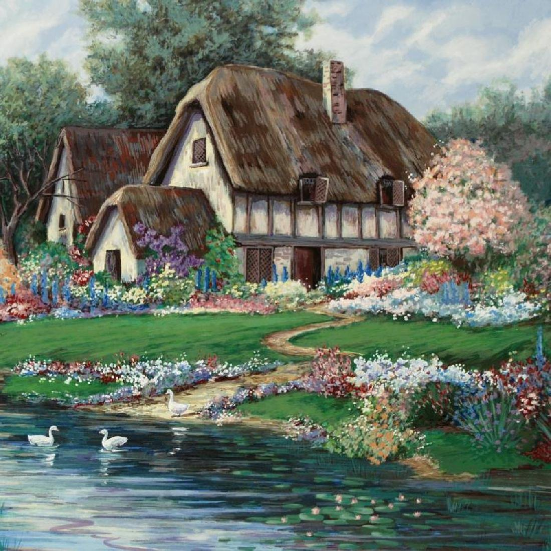 """""""English Farmhouse"""" Limited Edition Serigraph by - 2"""