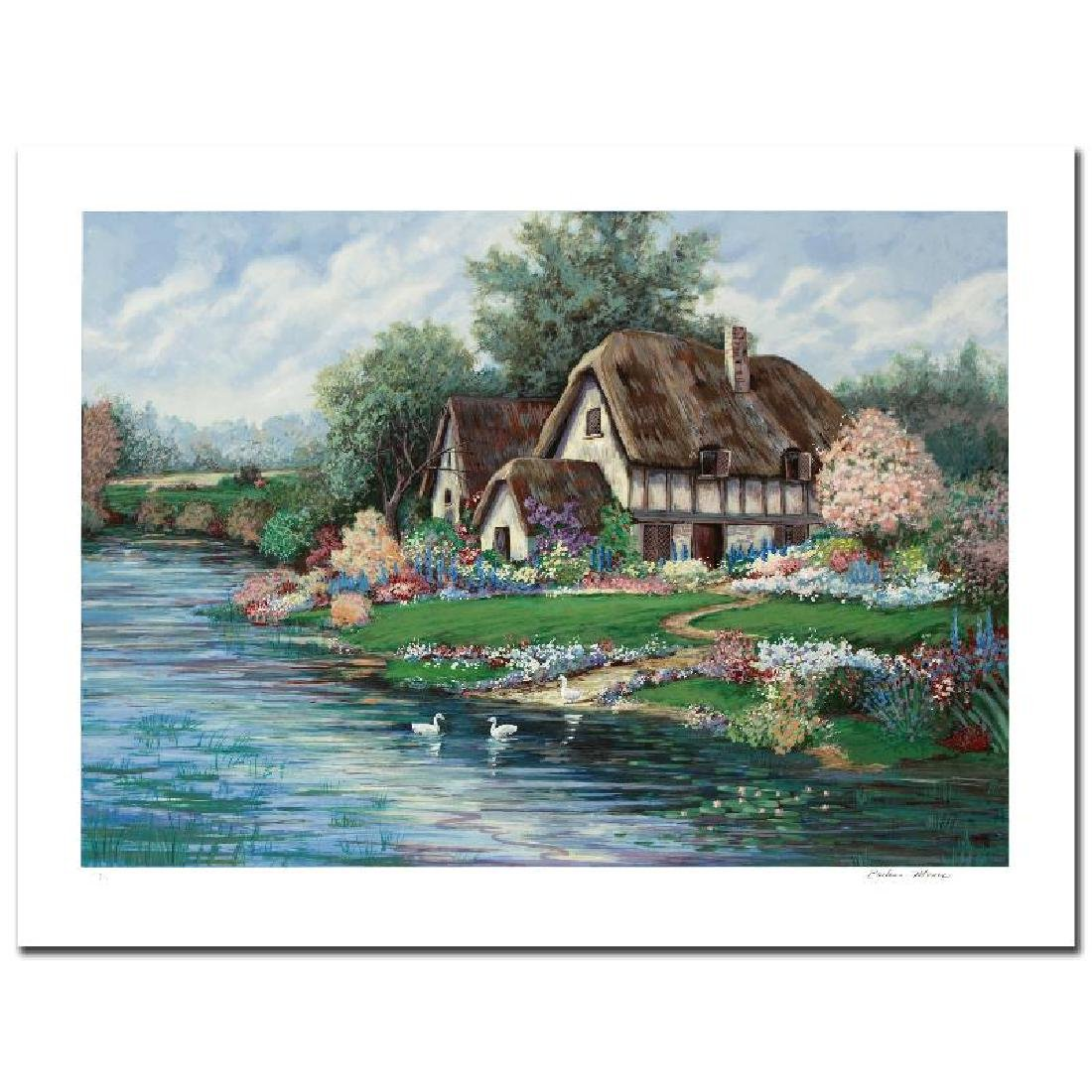 """""""English Farmhouse"""" Limited Edition Serigraph by - 3"""