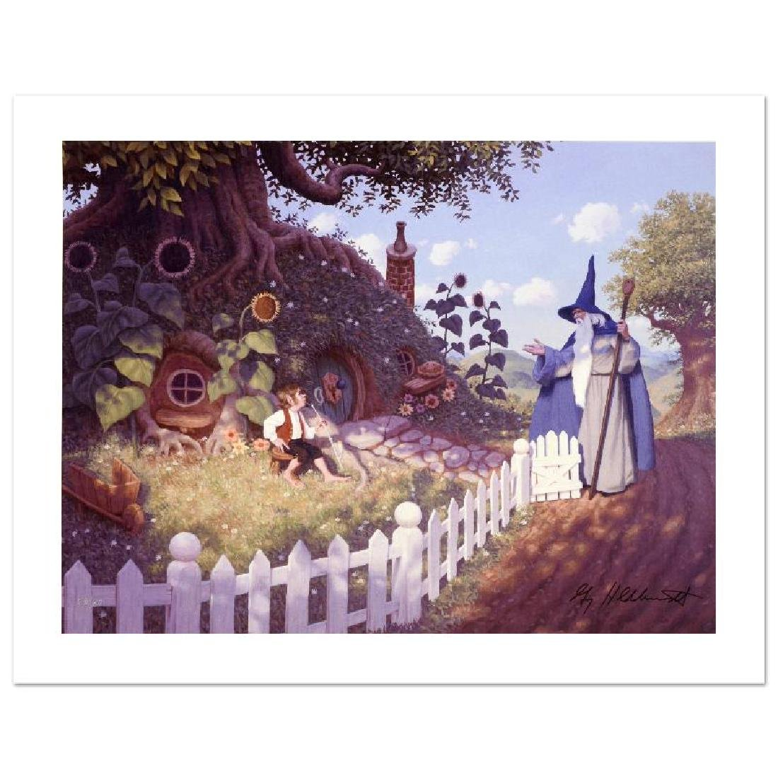 """Gandalf Visits Bilbo"" Limited Edition Giclee on Canvas"