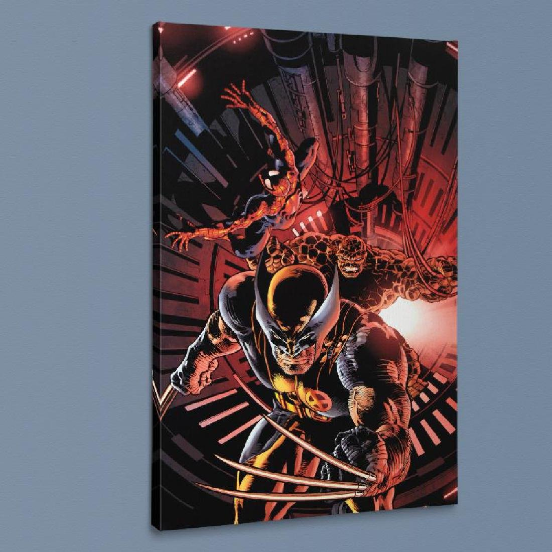 """""""New Avengers #11"""" LIMITED EDITION Giclee on Canvas by"""