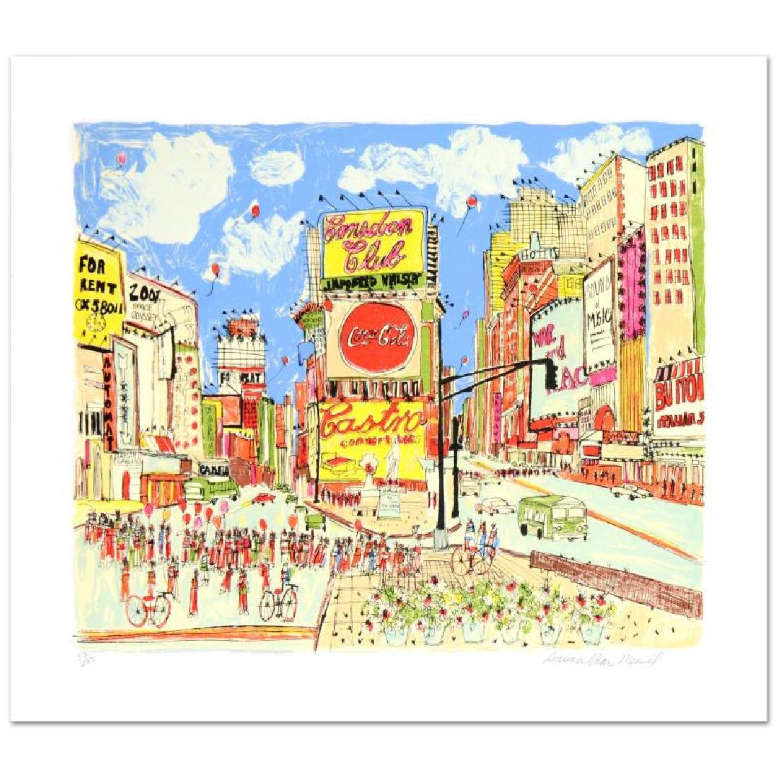 """Times Square"" Limited Edition Serigraph by Susan Pear"