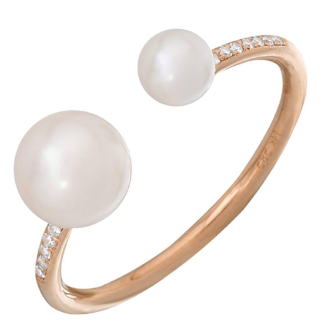 14KT Rose Gold Pearl Ring