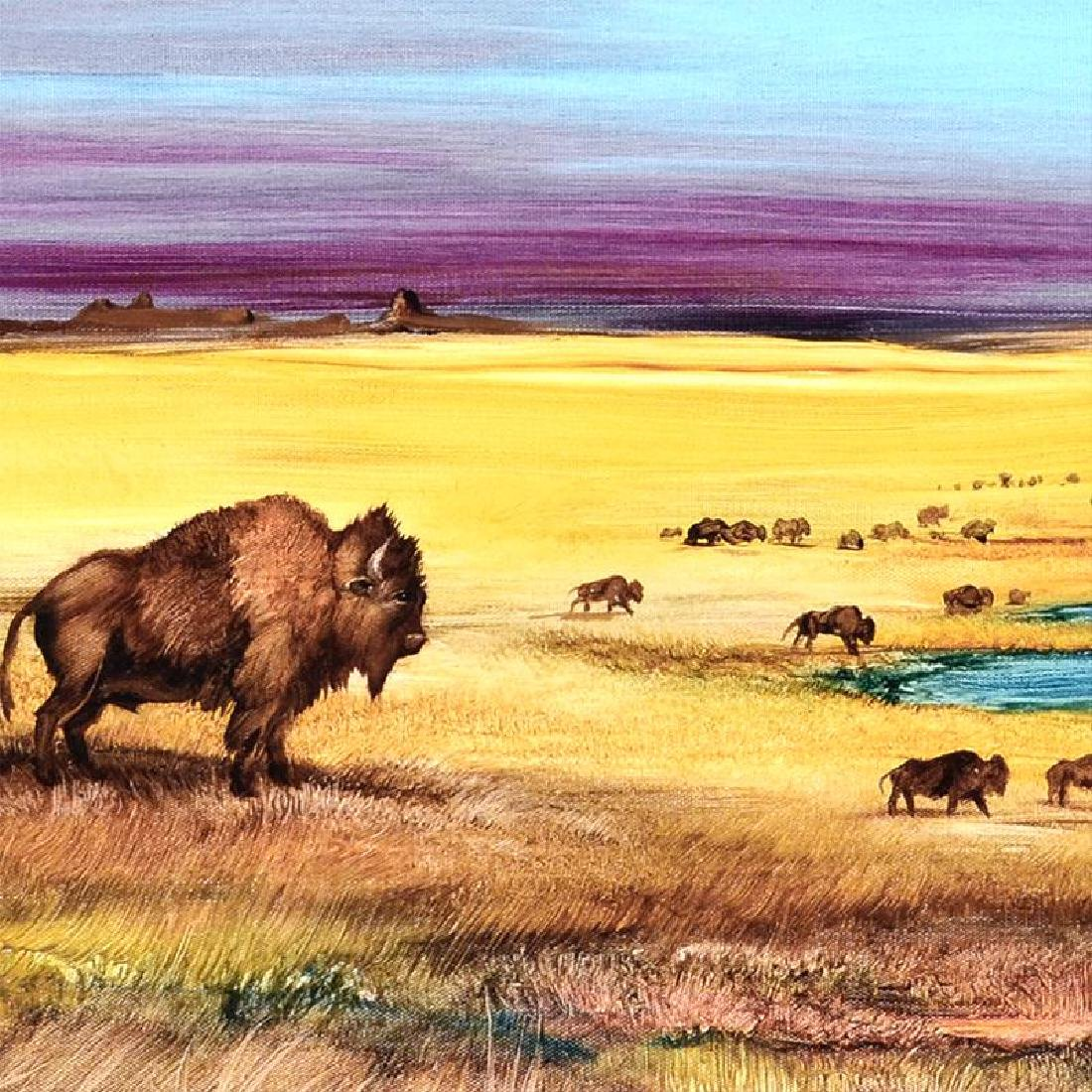 """""""Where the Buffalo..."""" Limited Edition Giclee on - 6"""