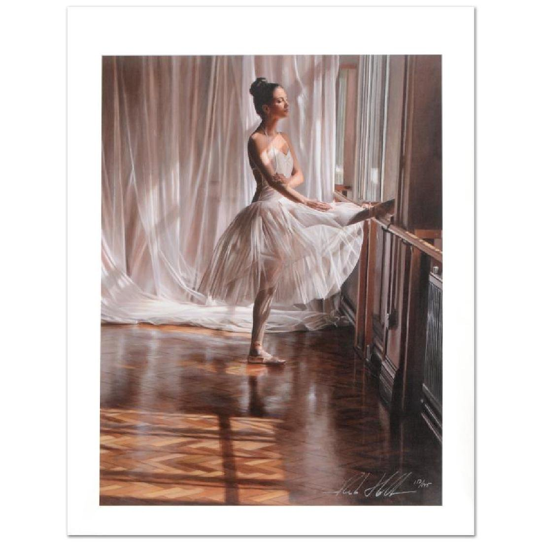 At the Barre Limited Edition Hand-Embellished Giclee on