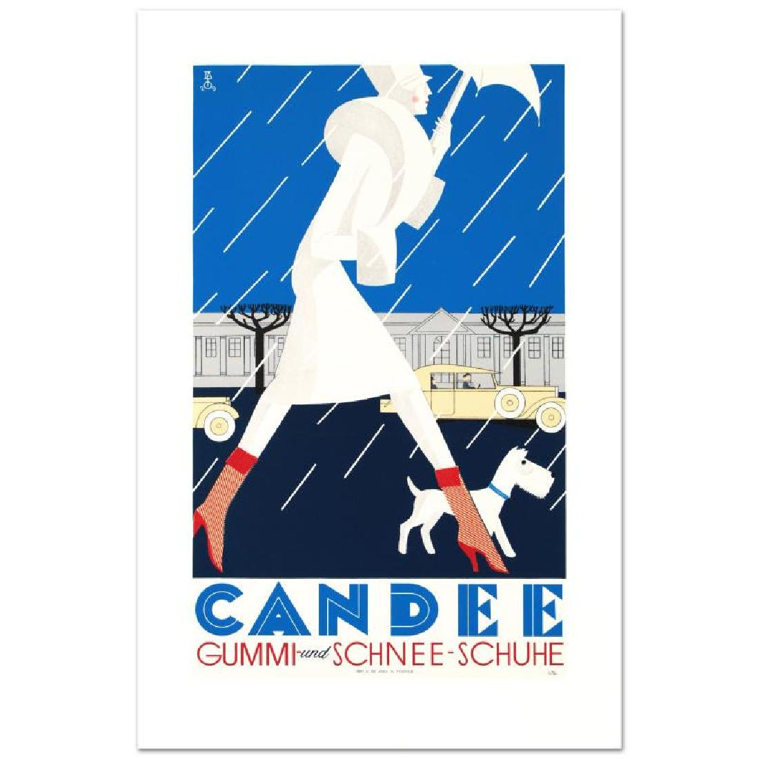 """Candee"" Hand Pulled Lithograph by the RE Society"