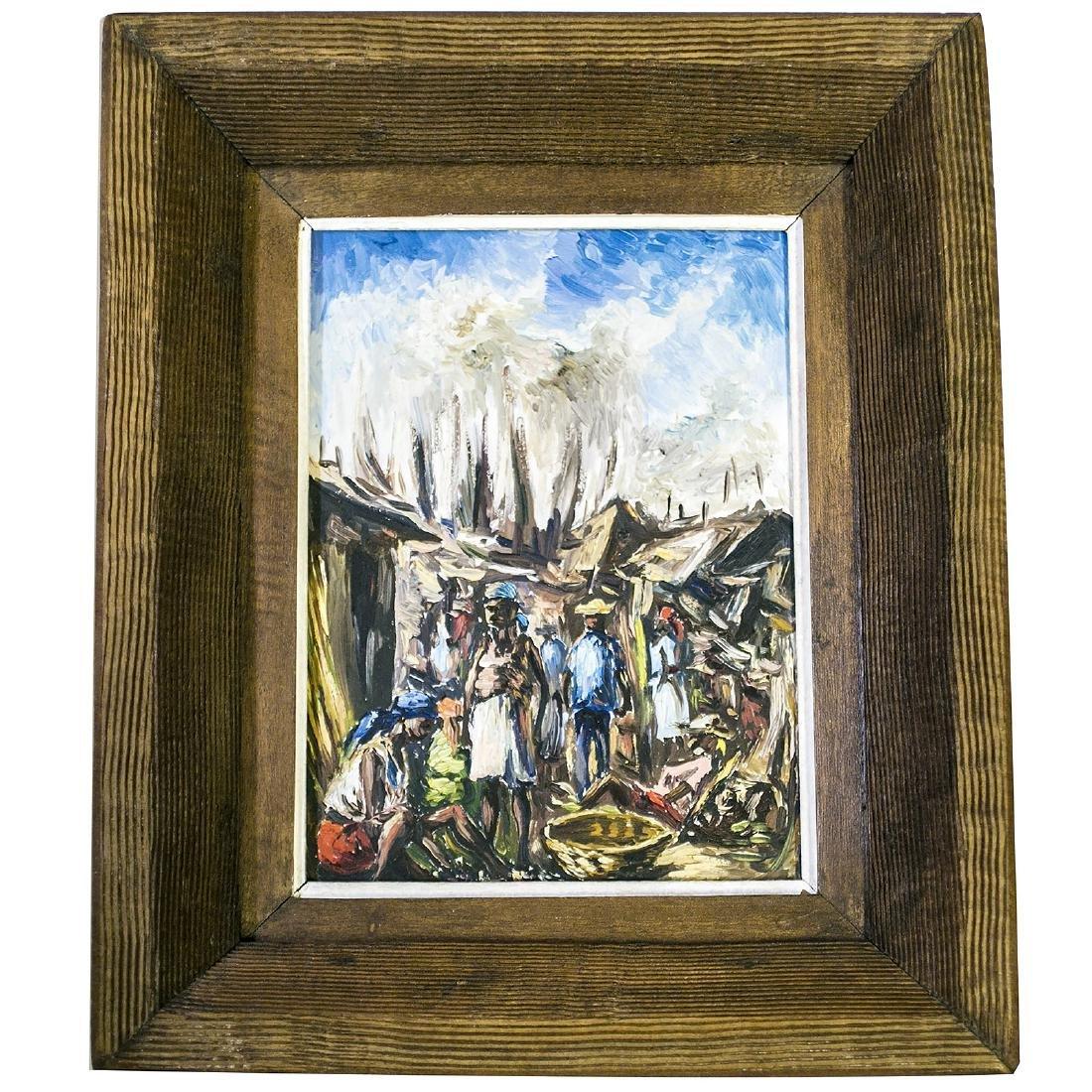 Haitian Impressionist Master Artist Ernest Louizor Oil - 6