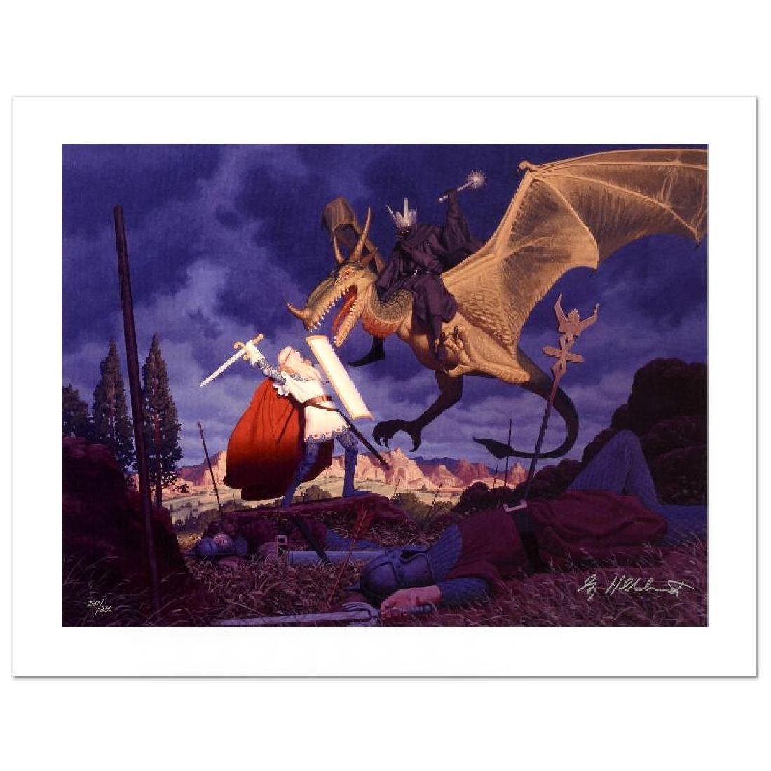 """""""Eowyn And The Nazgul"""" Limited Edition Giclee on Canvas"""