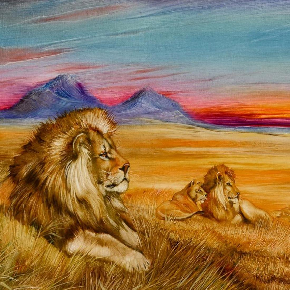 """Pride Of Lions"" Limited Edition Giclee on Canvas (36"" - 3"