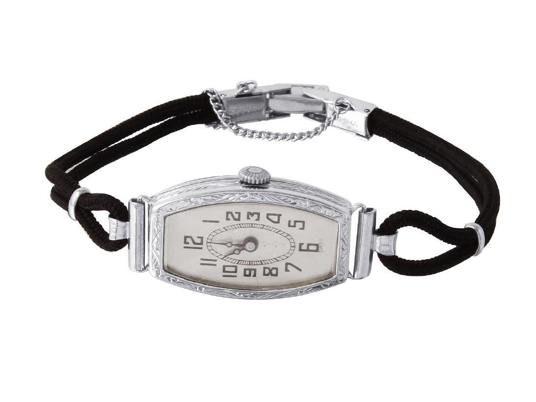 Ladies 14KT White Gold Cord Watch