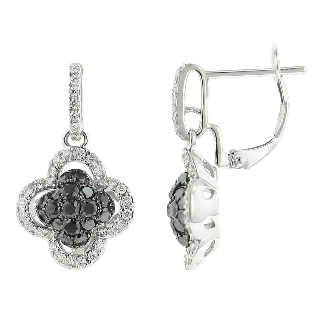 18k White Gold Diamond Earrings - 2