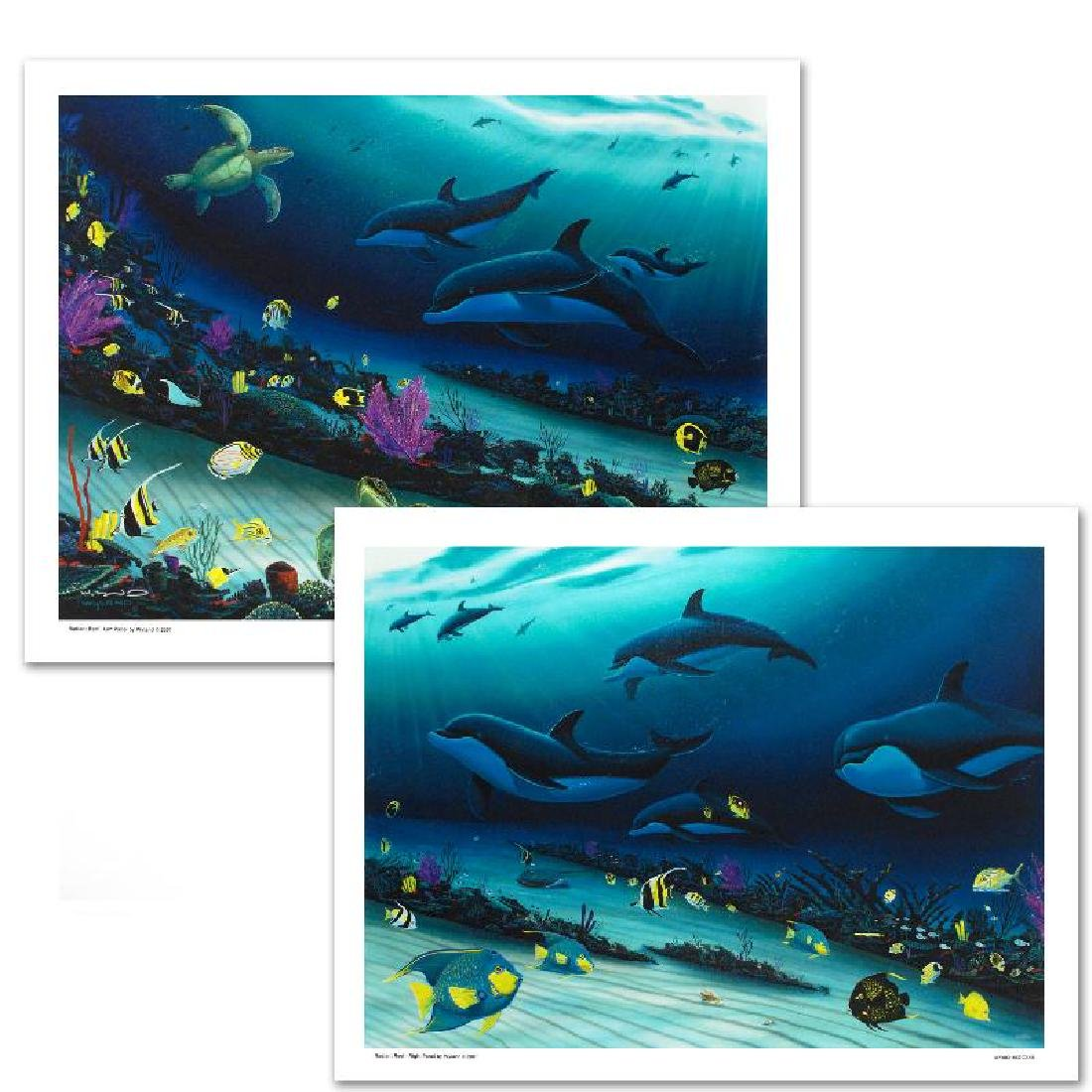 """Radiant Reef"" LIMITED EDITION Giclee Diptych on Canvas"