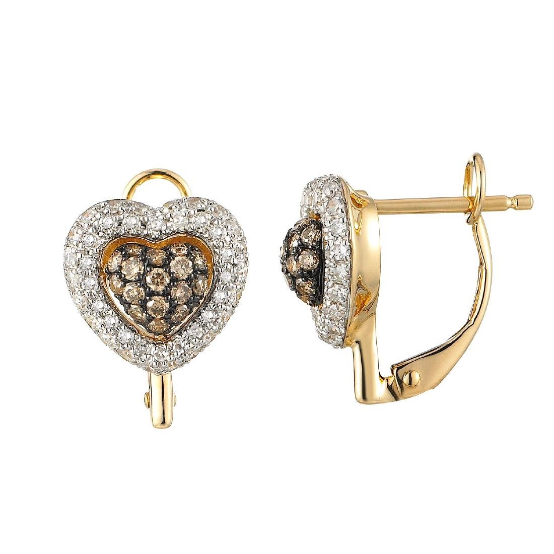 14KT  Gold Diamond Earrings