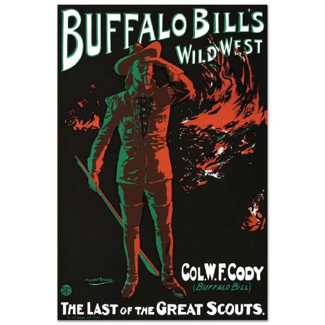 """""""Buffalo Bills Wild West"""" Hand Pulled Lithograph by the - 3"""
