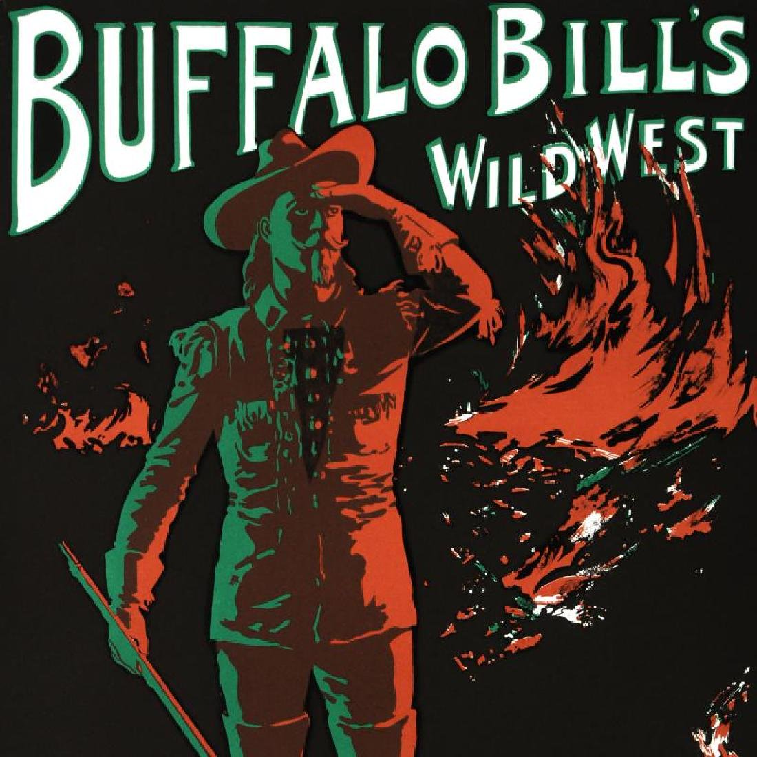 """Buffalo Bills Wild West"" Hand Pulled Lithograph by the - 4"