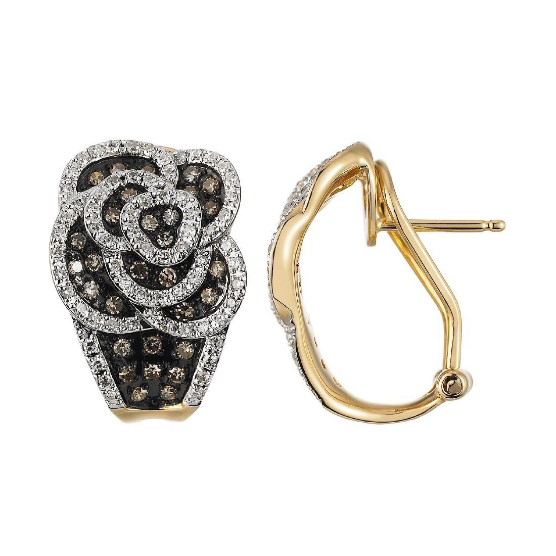 14KT  Gold Diamond Earrings