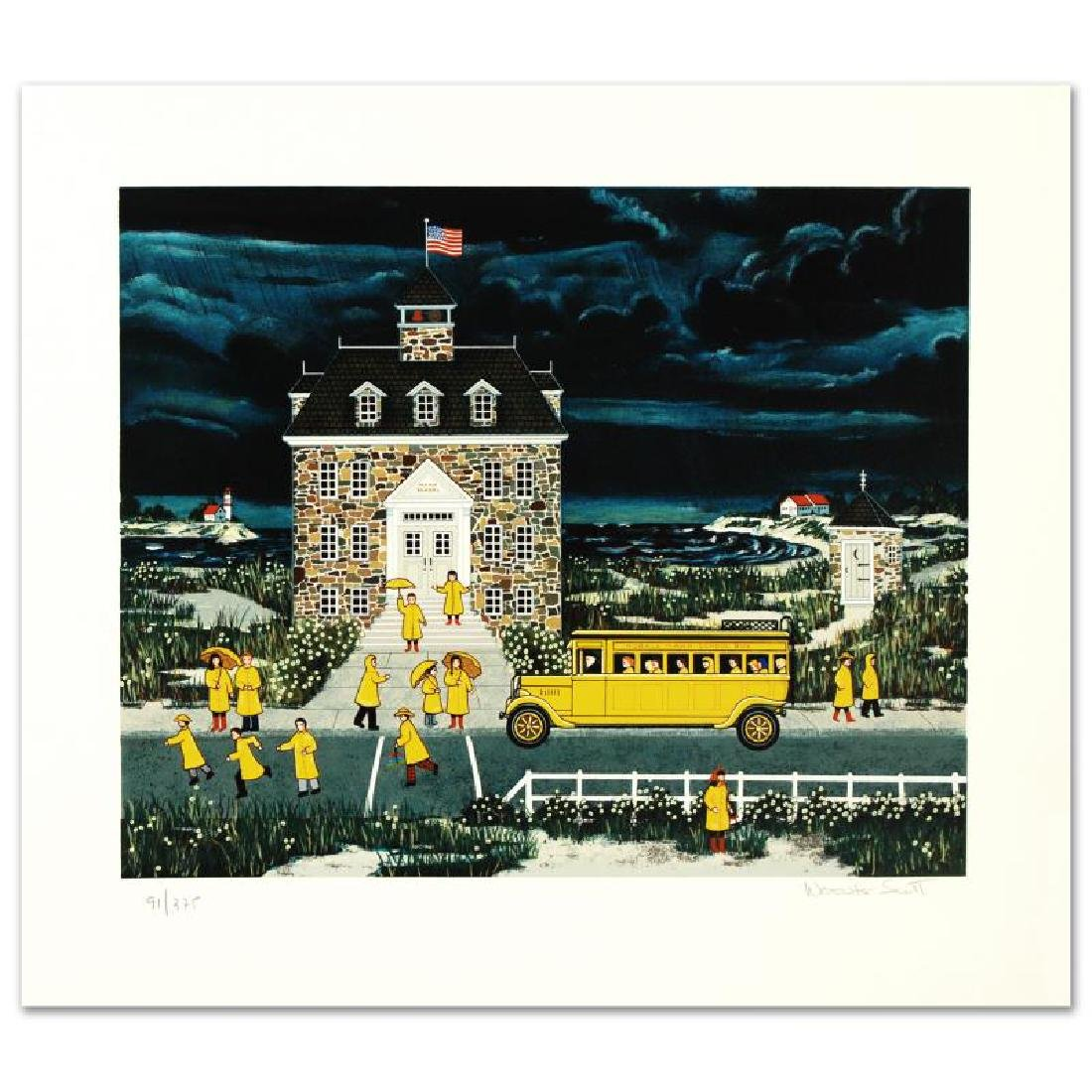 """""""Downpour Down East"""" Limited Edition Serigraph by Jane - 3"""