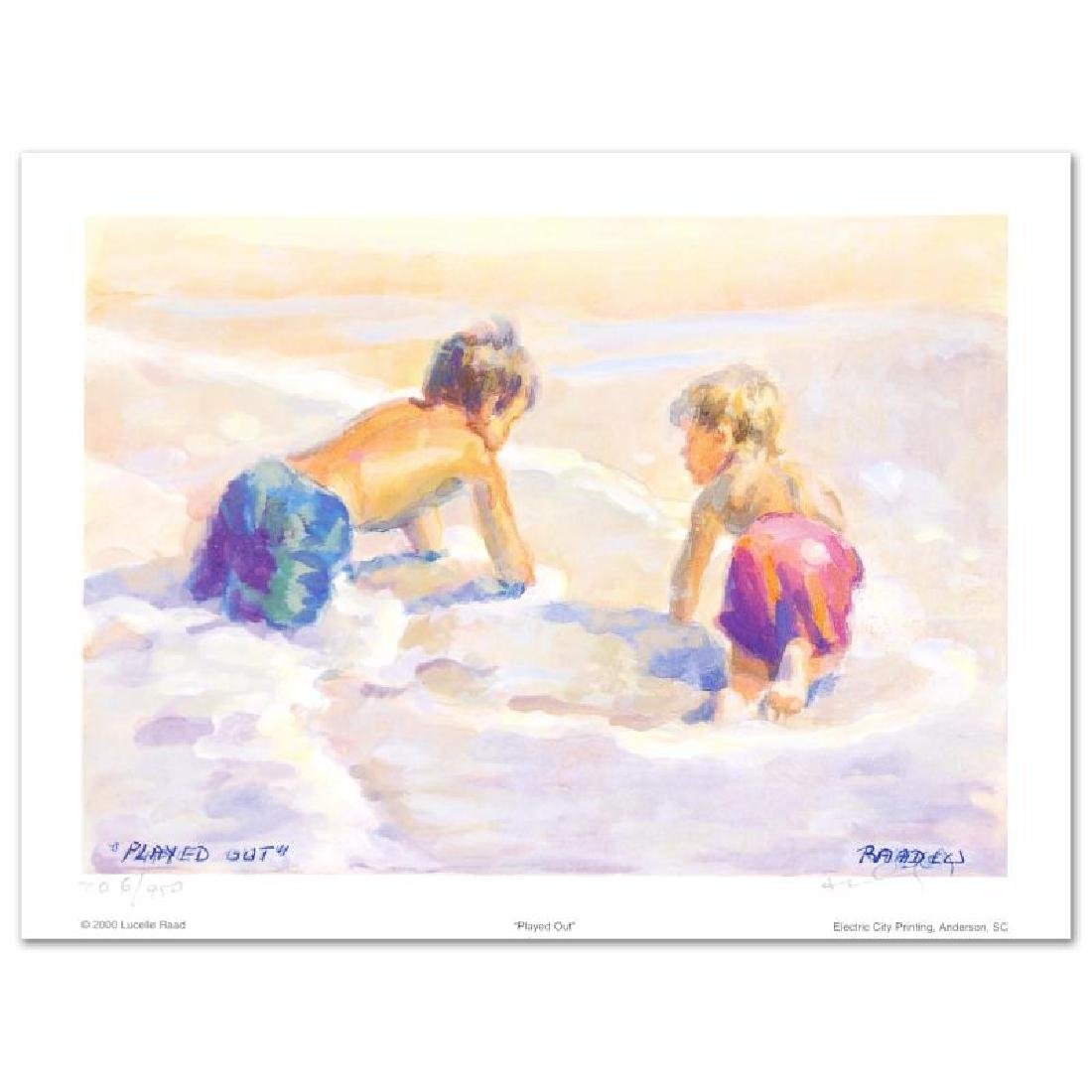 """""""Played Out"""" Limited Edition Lithograph by Lucelle Raad - 3"""