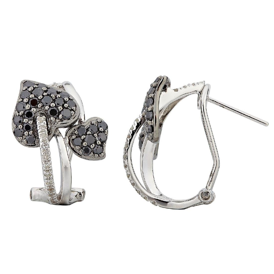 14KT  Gold Diamond Earrings - 2