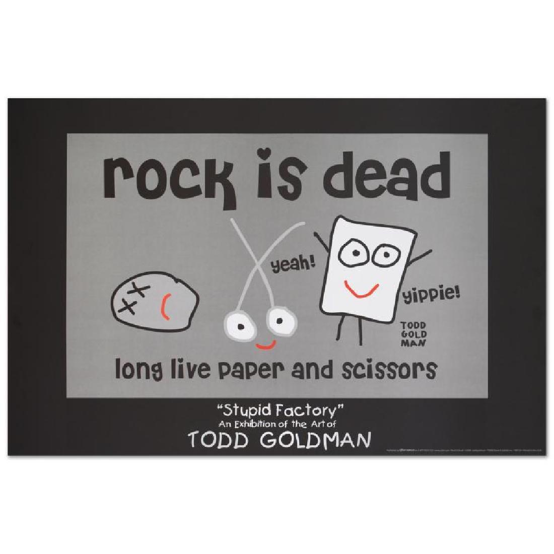 """""""Rock is Dead"""" Fine Art Litho Poster (36"""" x 24"""") by"""