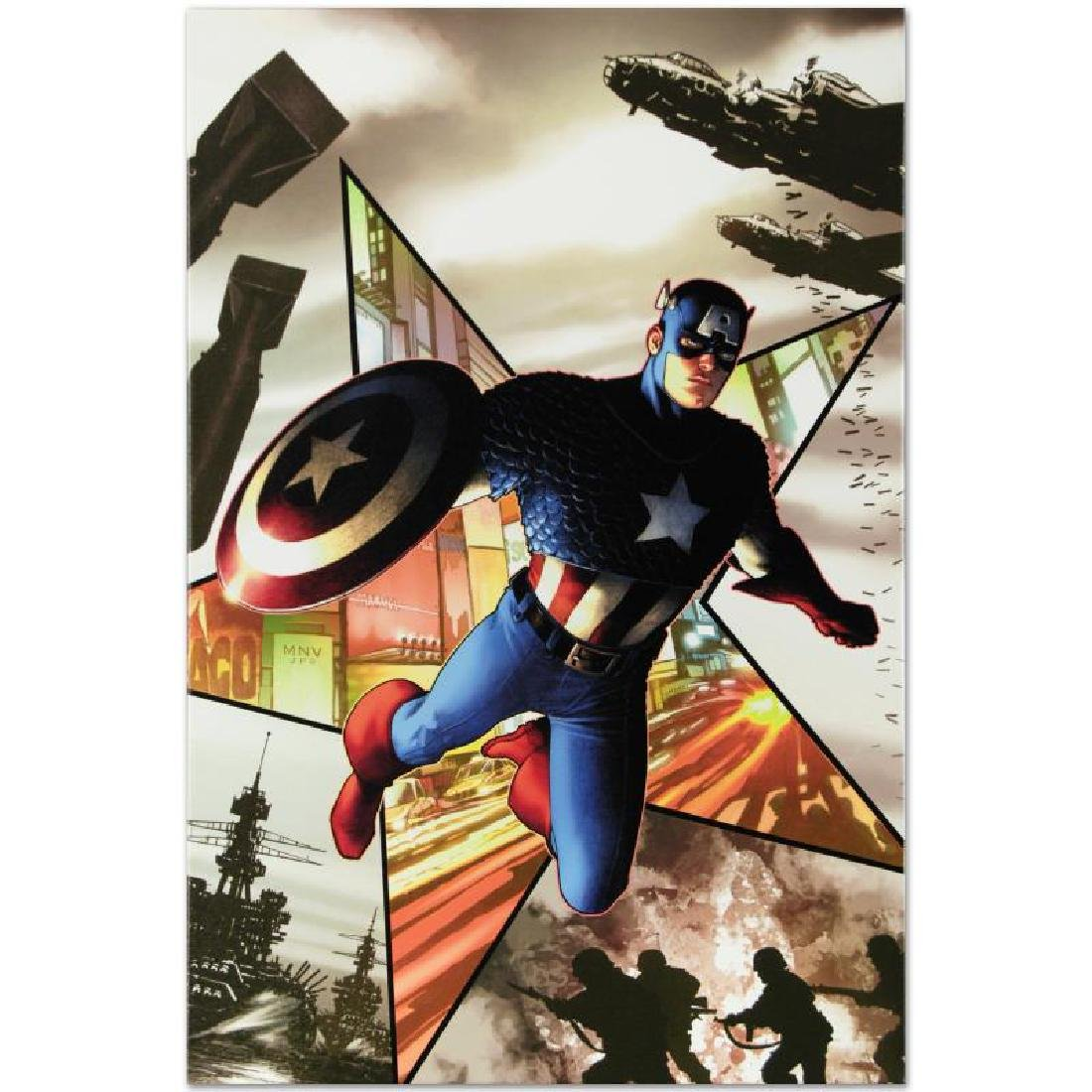 """Captain America #1"" Limited Edition Giclee on Canvas - 2"
