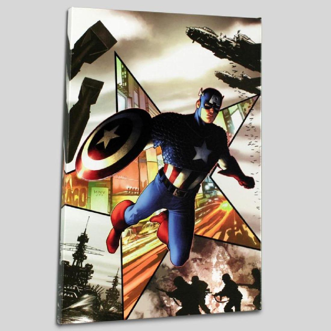 """Captain America #1"" Limited Edition Giclee on Canvas - 3"