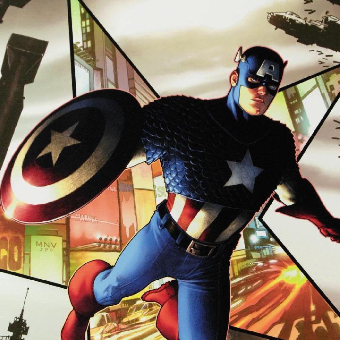 """Captain America #1"" Limited Edition Giclee on Canvas - 4"