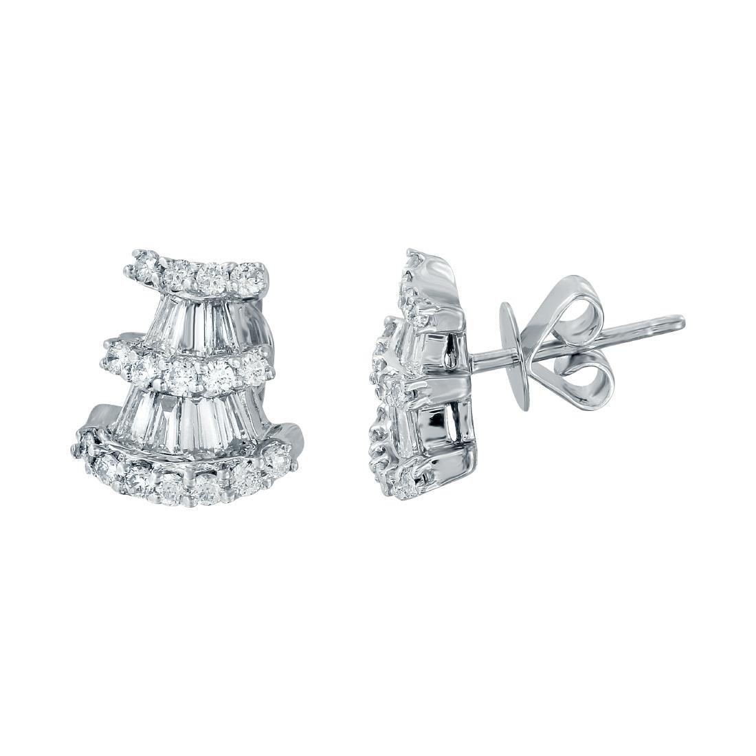 18KT White Gold Diamond Stud Earrings