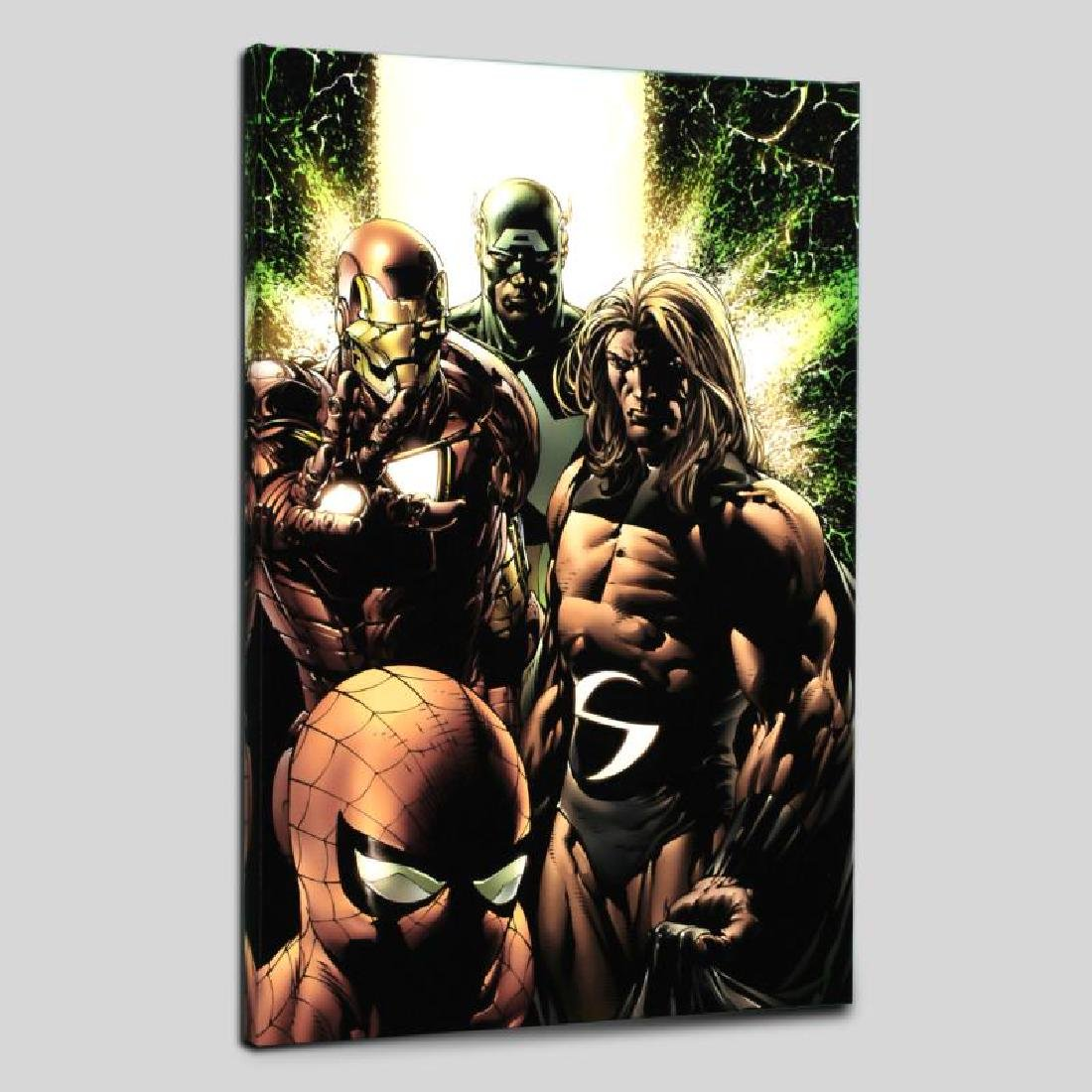 """""""New Avengers #8"""" Limited Edition Giclee on Canvas by"""