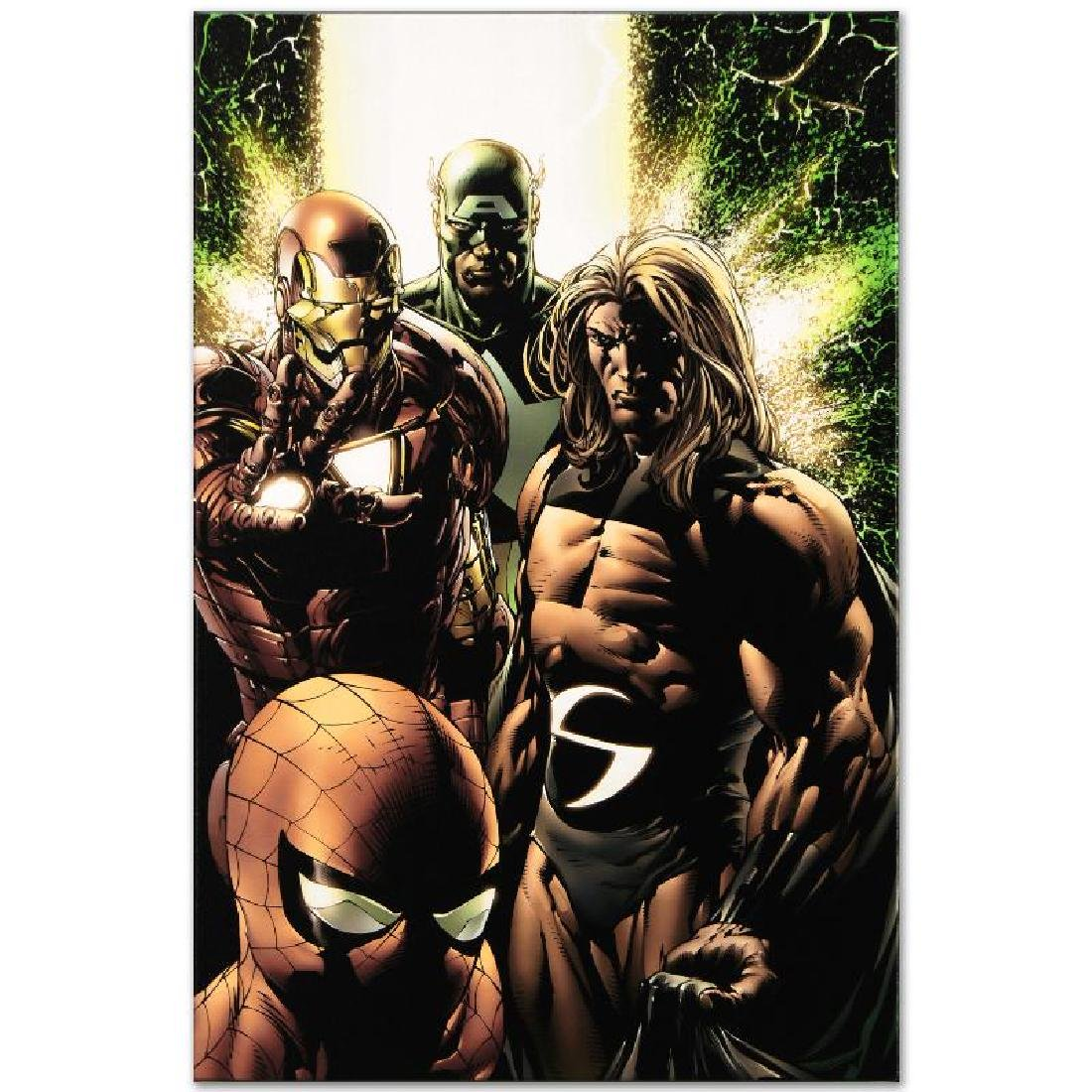 """""""New Avengers #8"""" Limited Edition Giclee on Canvas by - 2"""