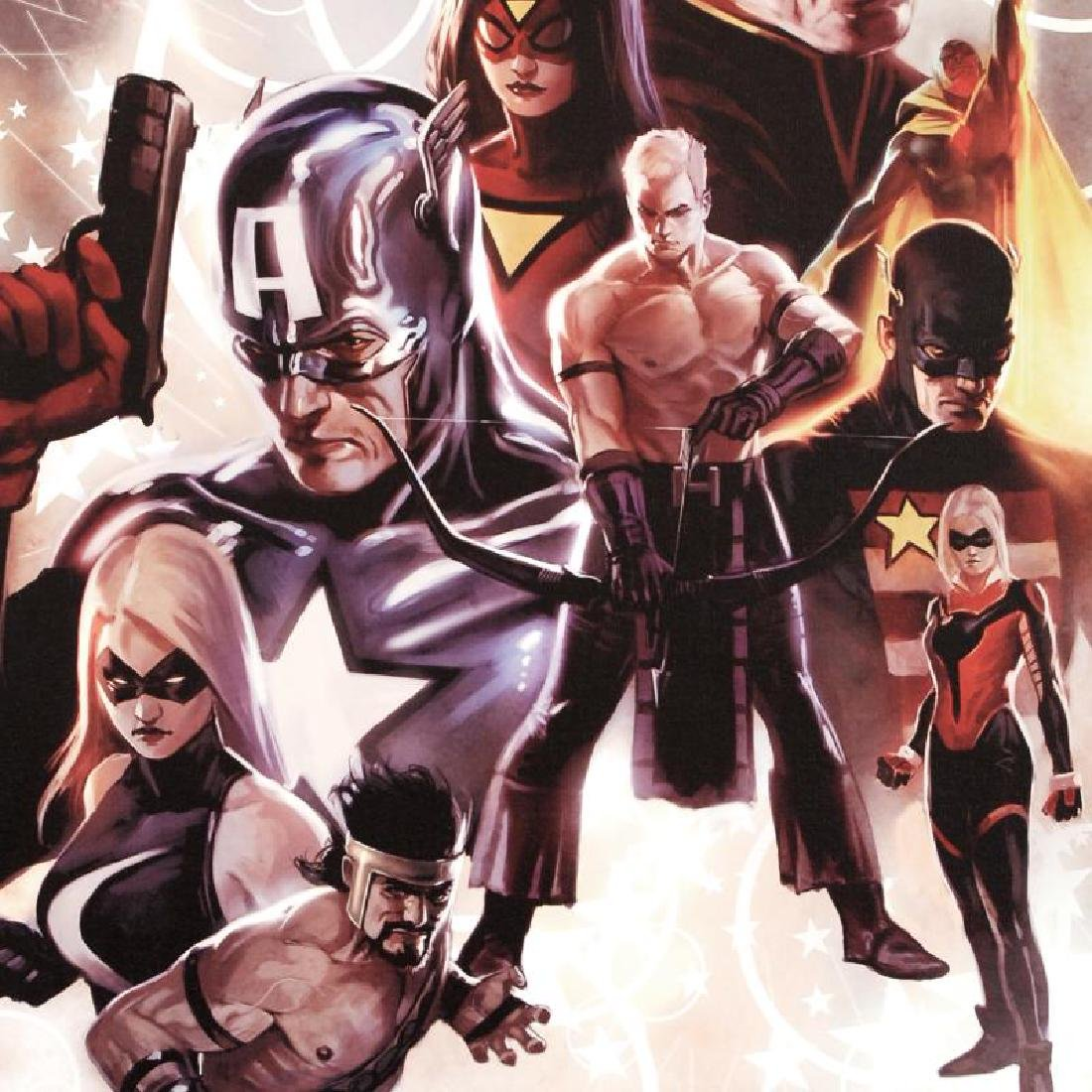 """""""The Mighty Avengers #30"""" Limited Edition Giclee on - 4"""