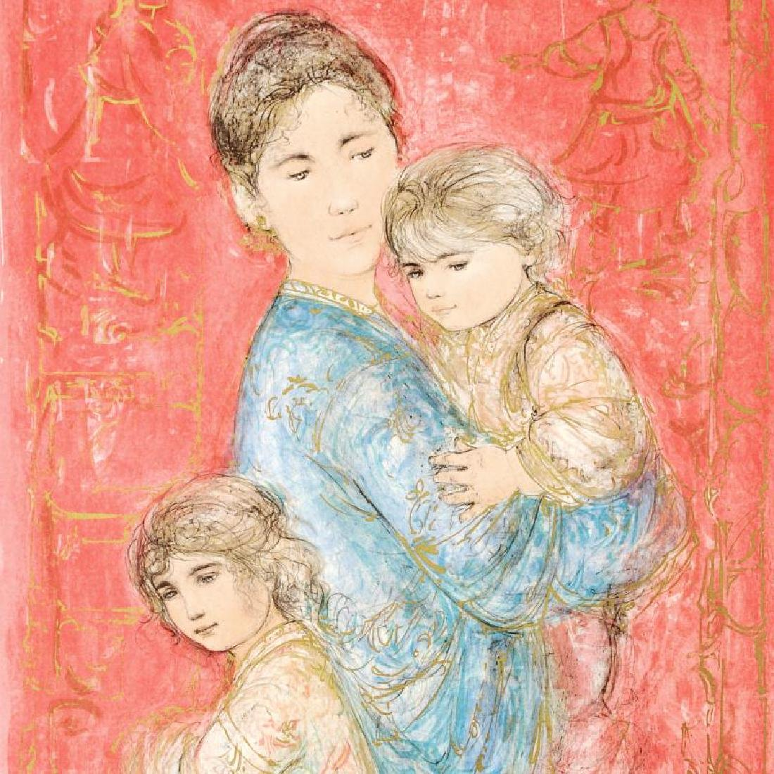 """""""Sonya and Family"""" Limited Edition Lithograph by Edna - 2"""