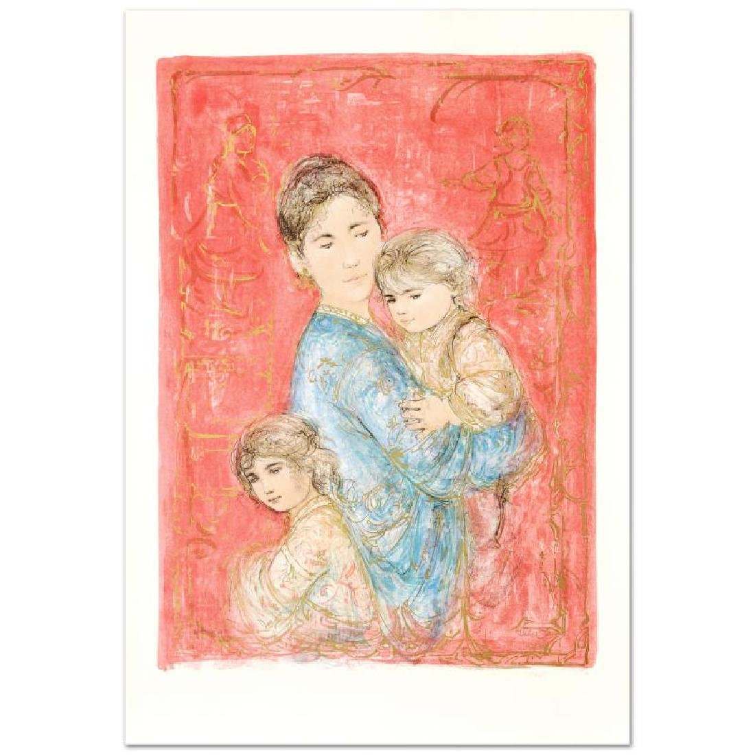 """Sonya and Family"" Limited Edition Lithograph by Edna - 3"