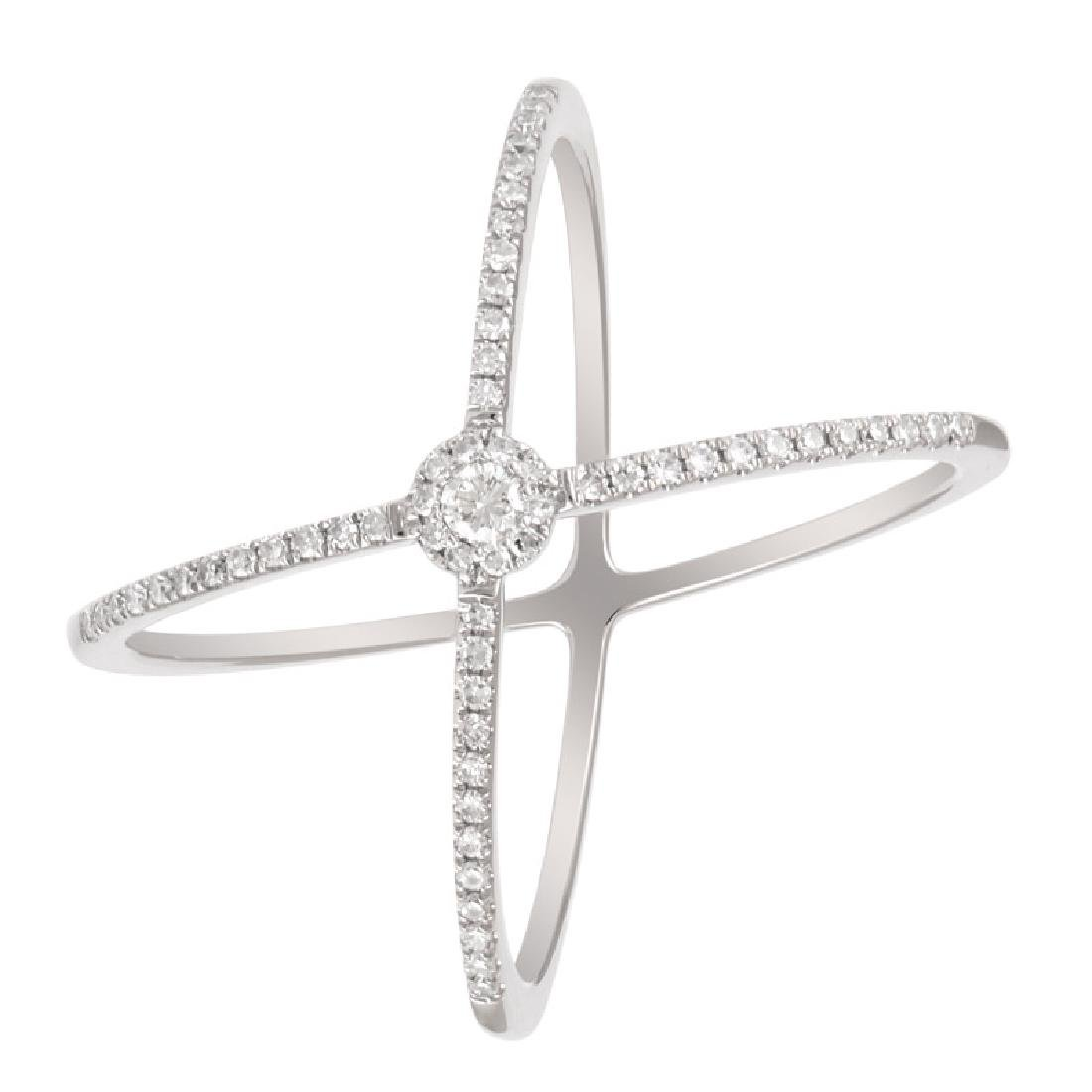 14KT White Gold Women's Diamond Ring