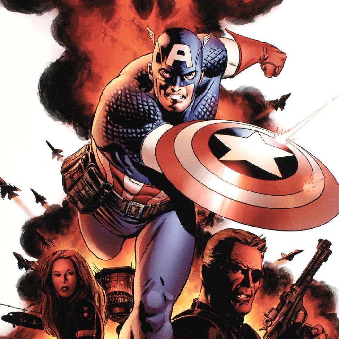"""""""Captain America #1"""" LIMITED EDITION Giclee on Canvas - 4"""