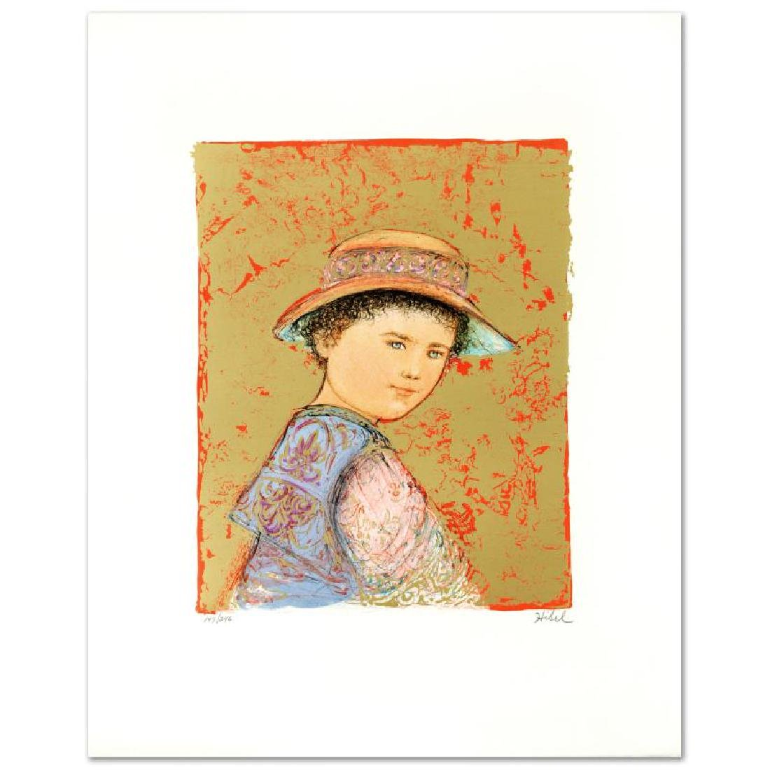 """Joel"" Limited Edition Lithograph by Edna Hibel"
